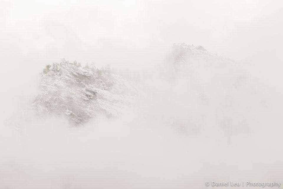It's snowing, Ahwahnee Meadow, Yosemite National Park