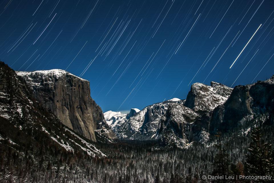 Yosemite Valley with Startrail
